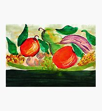 Fruit Plate, watercolor Photographic Print