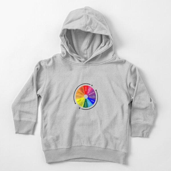 ТЕОРИЯ ЦВЕТА. Цветовой круг Иттена - спектр из 12 цветов. Color Theory. Itten's Color Wheel: 12 Color Spectrum Toddler Pullover Hoodie
