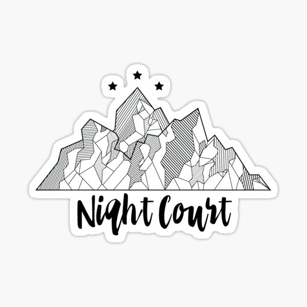 ACOTAR Night Court Symbol Sticker