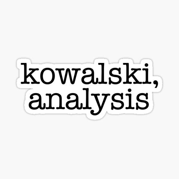 kowalski, analysis Sticker