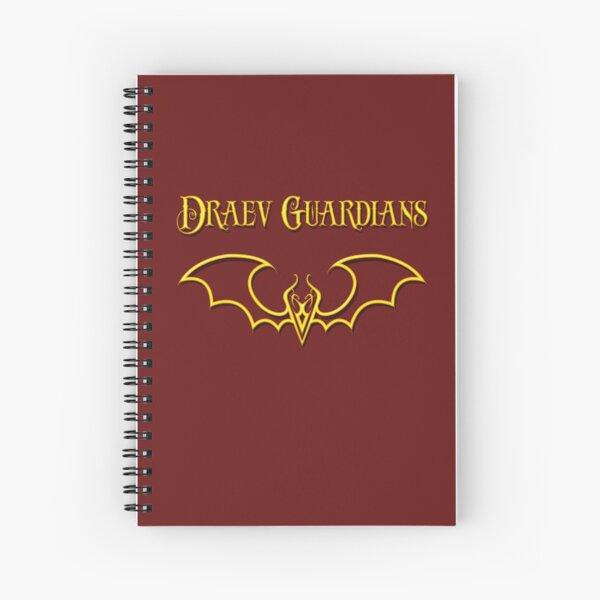 Draev Guardians fang wing symbol Spiral Notebook