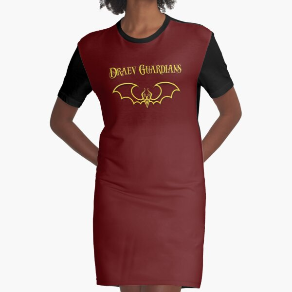 Draev Guardians fang wing symbol Graphic T-Shirt Dress