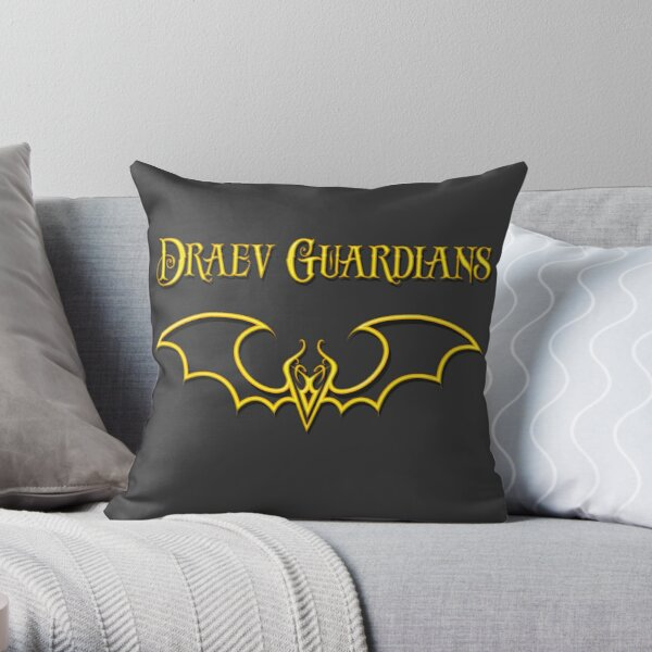 Draev Guardians fang wing symbol Throw Pillow