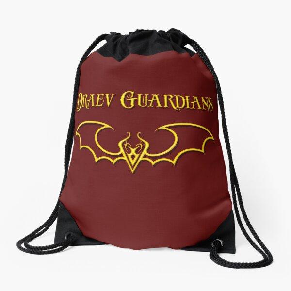 Draev Guardians fang wing symbol Drawstring Bag