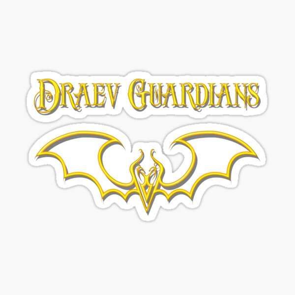 Draev Guardians fang wing symbol Sticker