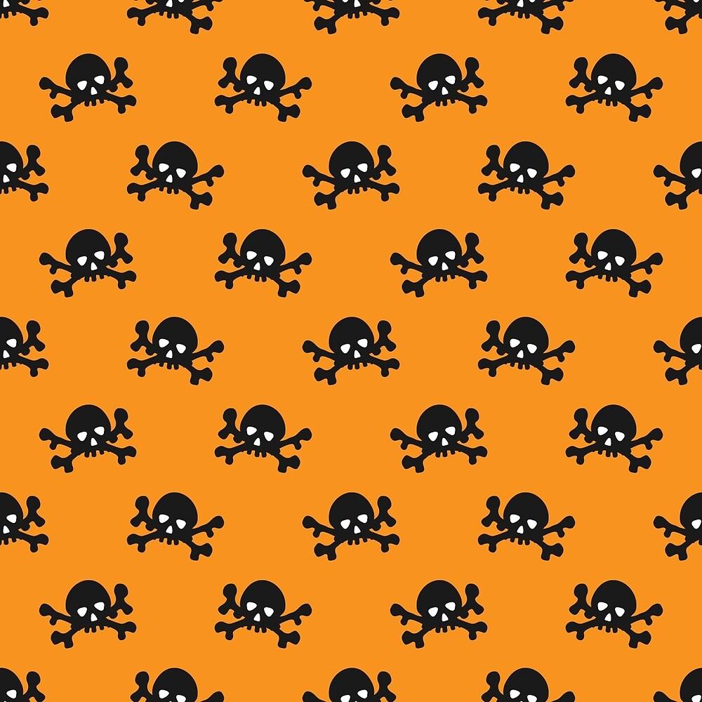 Black skulls with crossbones by kylmaviha