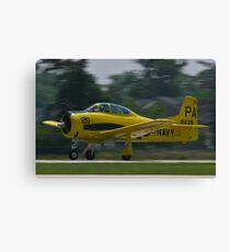 138239, N726A T-28B Trojan taking off Canvas Print
