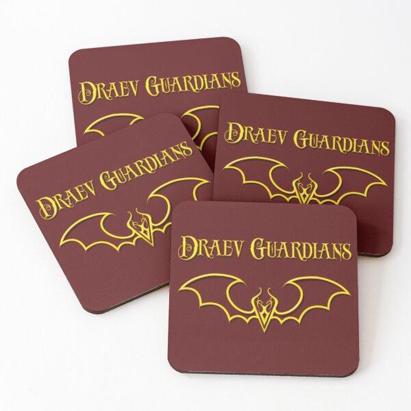 Draev Guardians fang wing symbol Coasters (Set of 4)