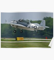 NL9584Z TBM-3 Avenger taking off Poster