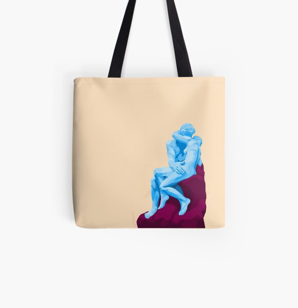 Remixed Rodin All Over Print Tote Bag