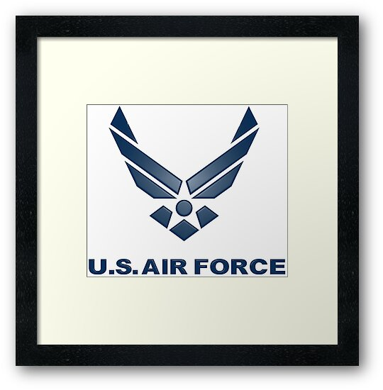 U S Air Force Symbol Framed Prints By Spacestuffplus Redbubble