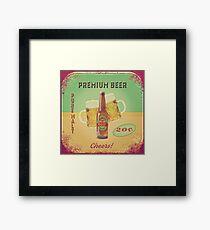 50s Premium Beer Pure Malt  Framed Print