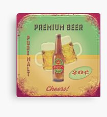 50s Premium Beer Pure Malt  Canvas Print