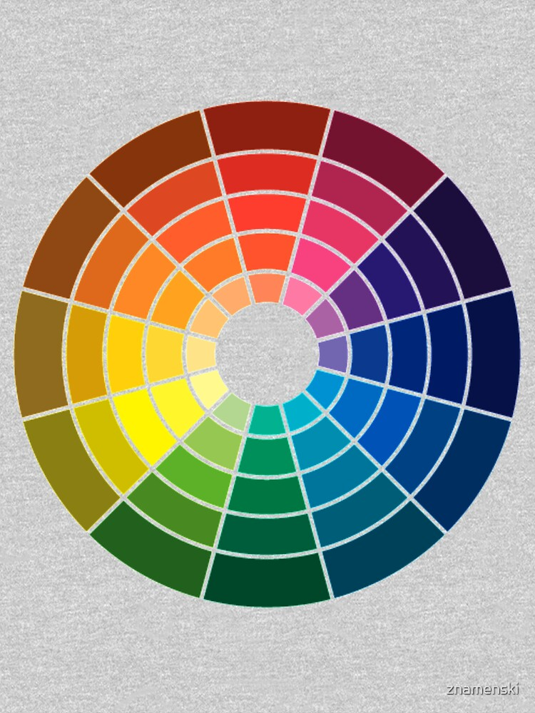 Colour wheel tints tones and shades by znamenski