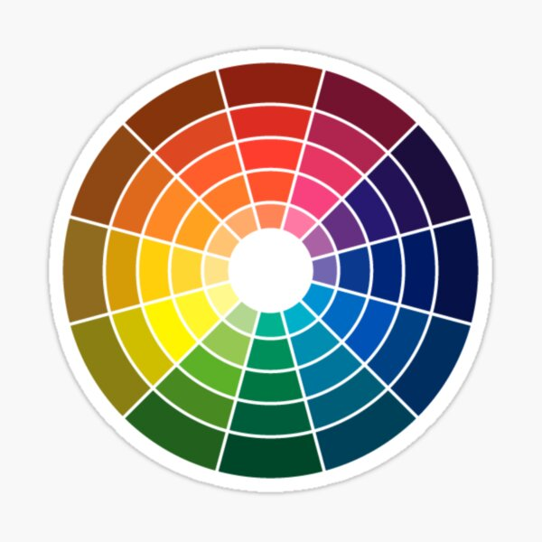 Colour wheel tints tones and shades Sticker
