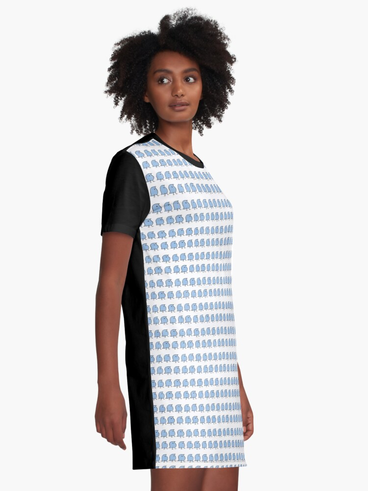 Alternate view of Many Wugs Graphic T-Shirt Dress