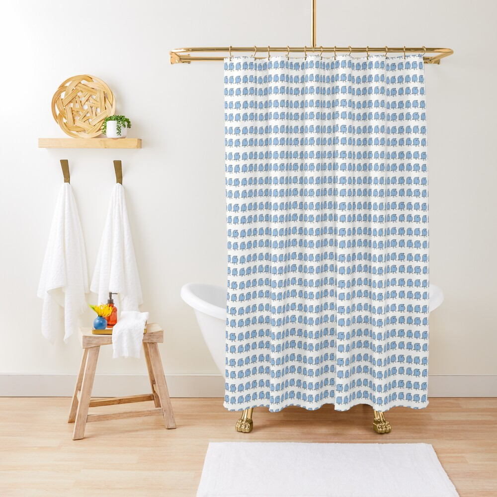 Many Wugs Shower Curtain