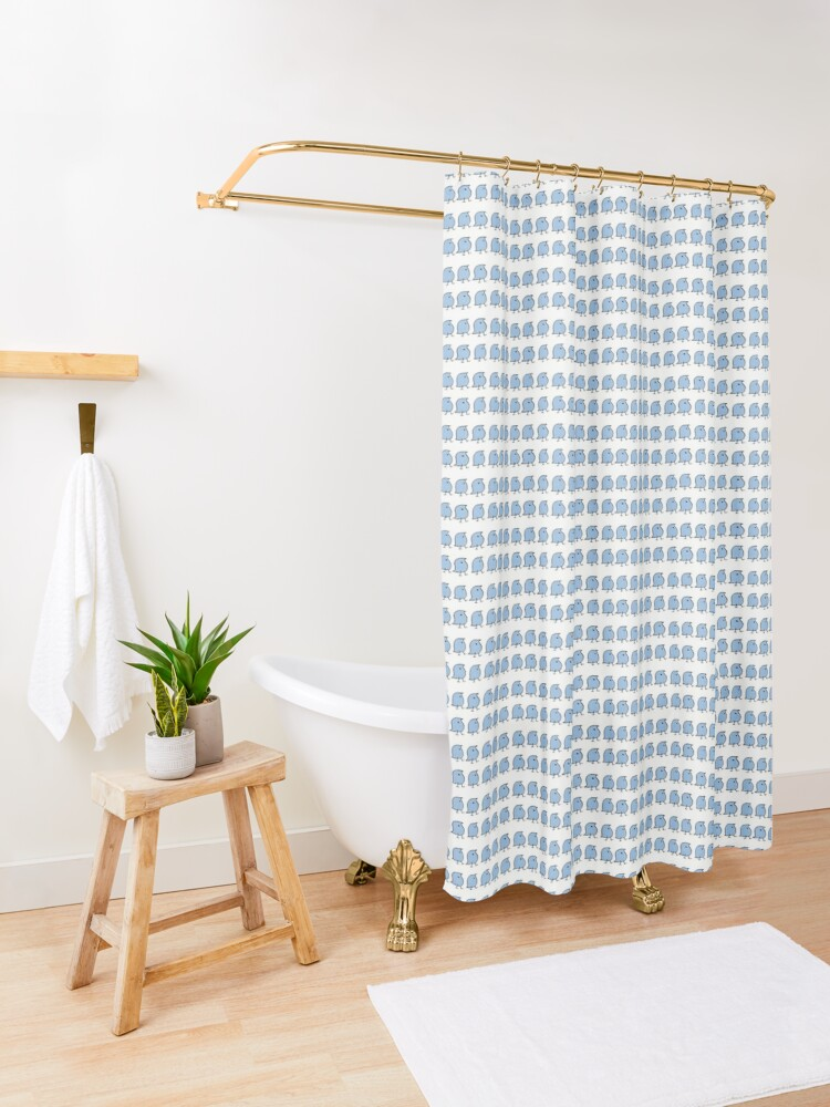 Alternate view of Many Wugs Shower Curtain