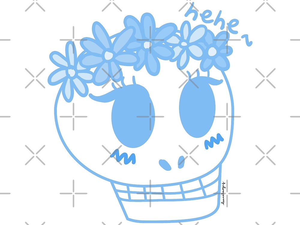 Susan the Skull in Blue by hannahmazing