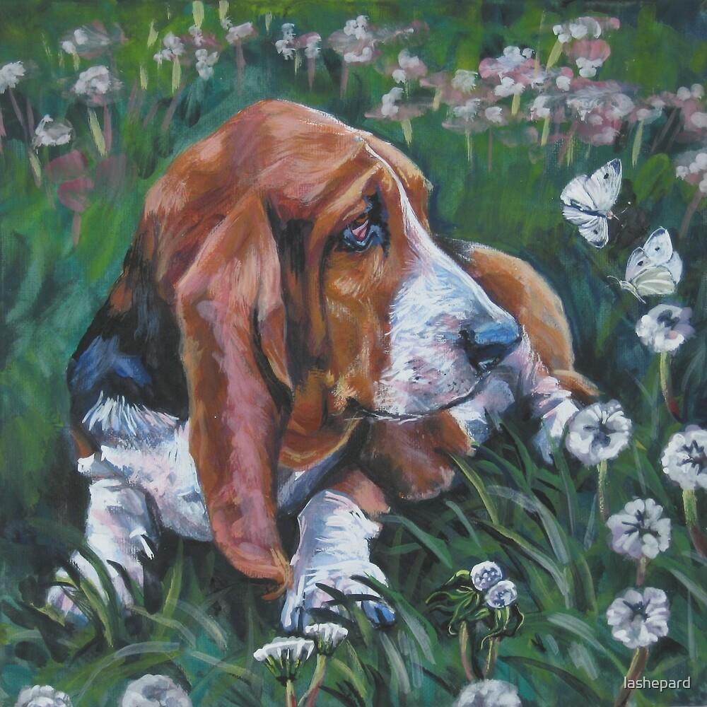 Basset Hound Fine Art Painting by lashepard