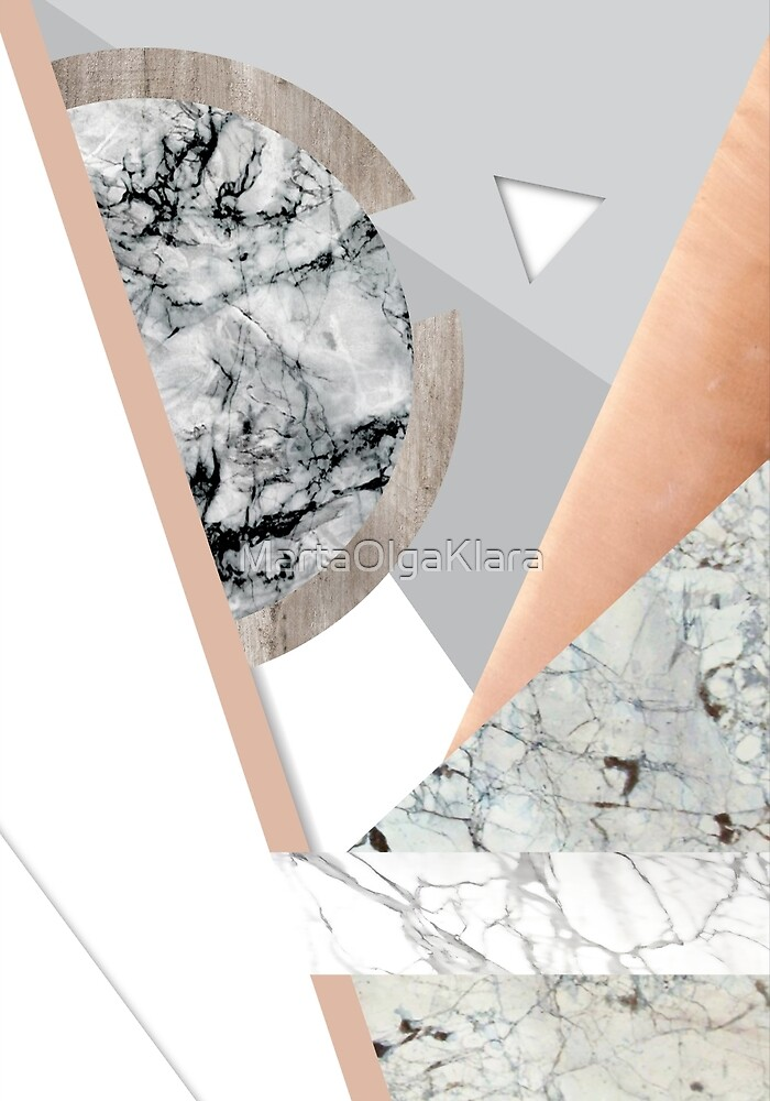 Collage I ( marble and copper ) by MartaOlgaKlara