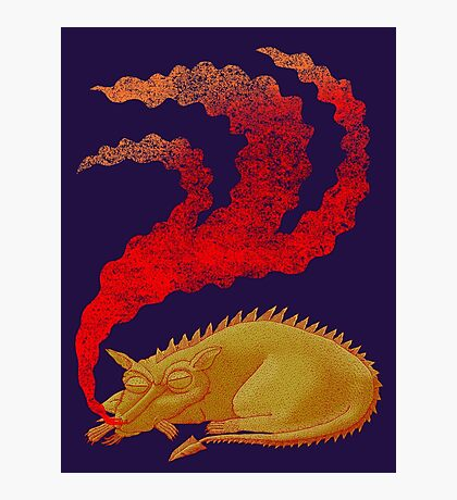 Snoring Dragon Photographic Print