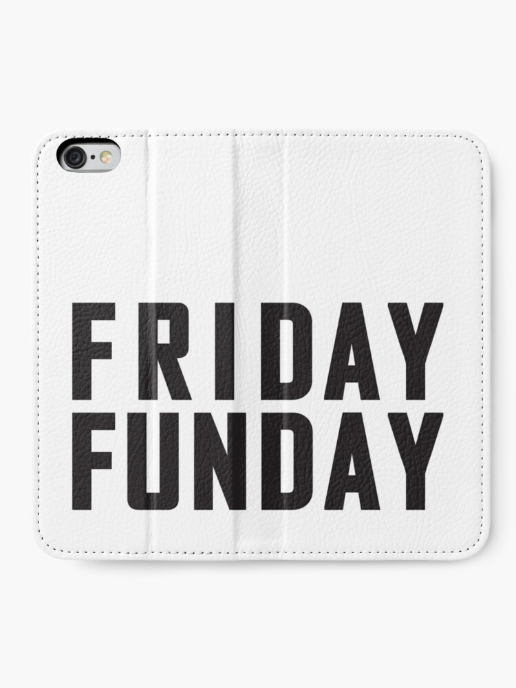 Alternate view of Friday Funday Black  iPhone Wallet