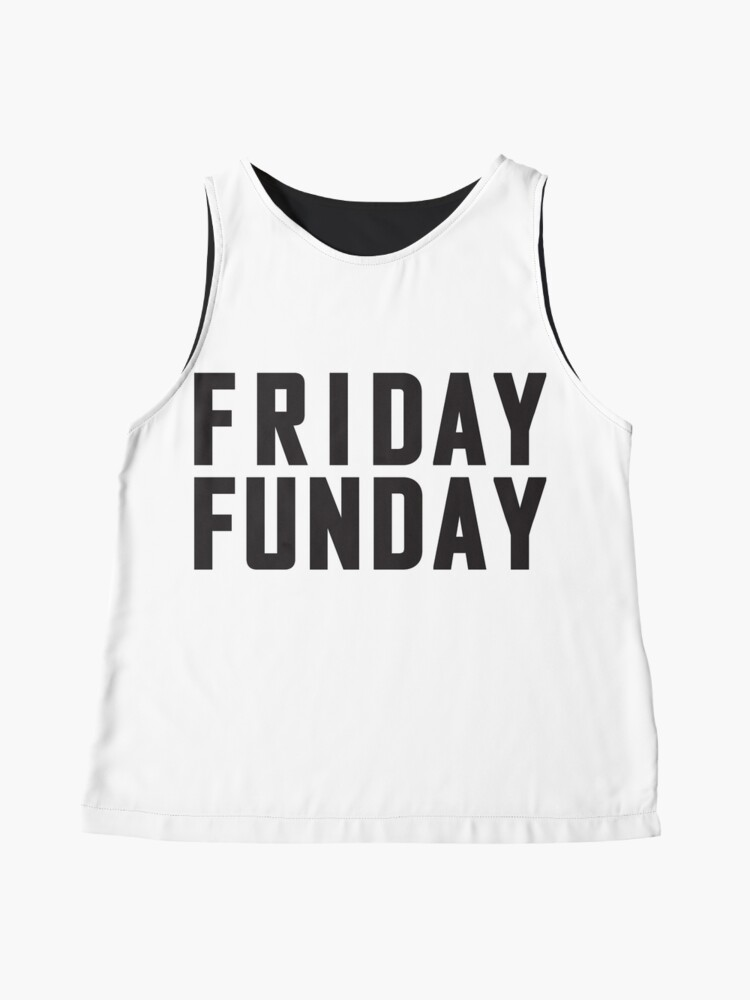 Alternate view of Friday Funday Black  Sleeveless Top