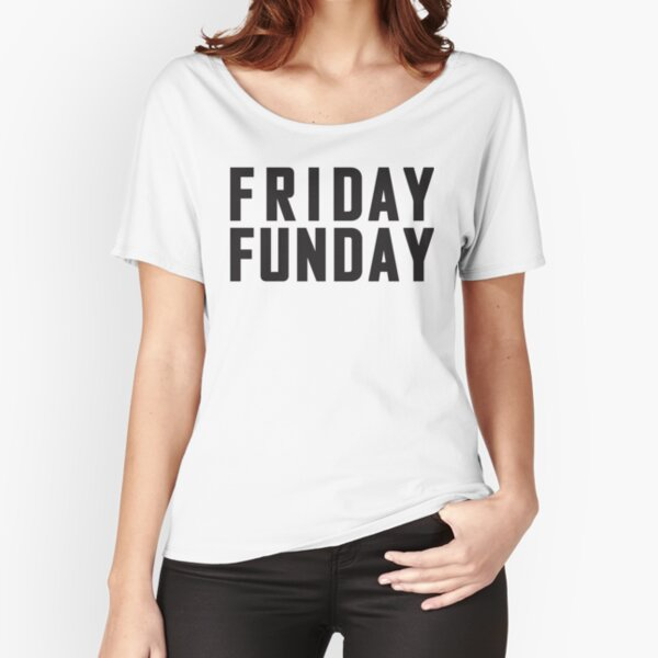 Friday Funday Black  Relaxed Fit T-Shirt
