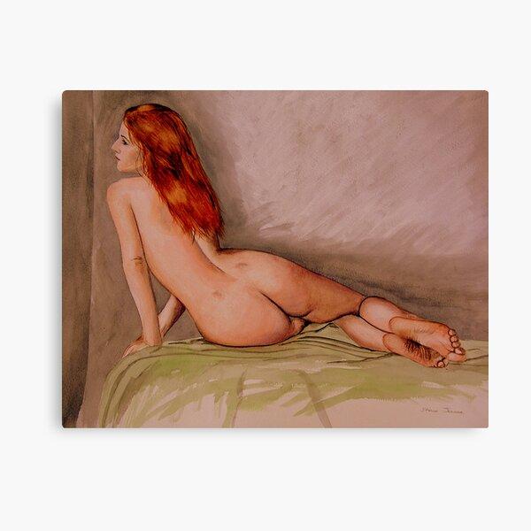 Watercolour Nude Canvas Print