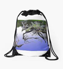 Fallen Tree Reflections................Most Products Drawstring Bag