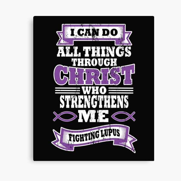 Lupus Awareness Church product for Christ print Canvas Print