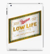 American Low Life Beer Label iPad Case/Skin