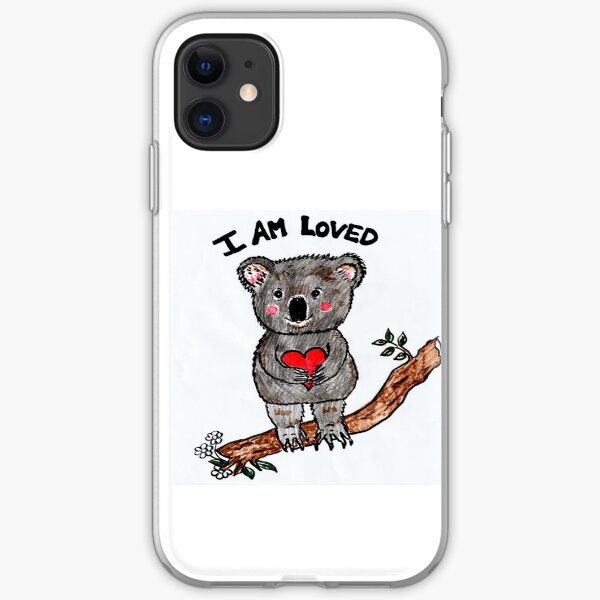 Koala Bear I am Loved iPhone Soft Case