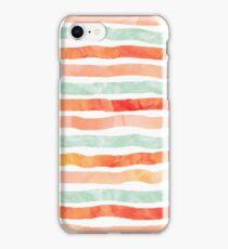 watercolor hand drawn peach mint orange iPhone Case/Skin