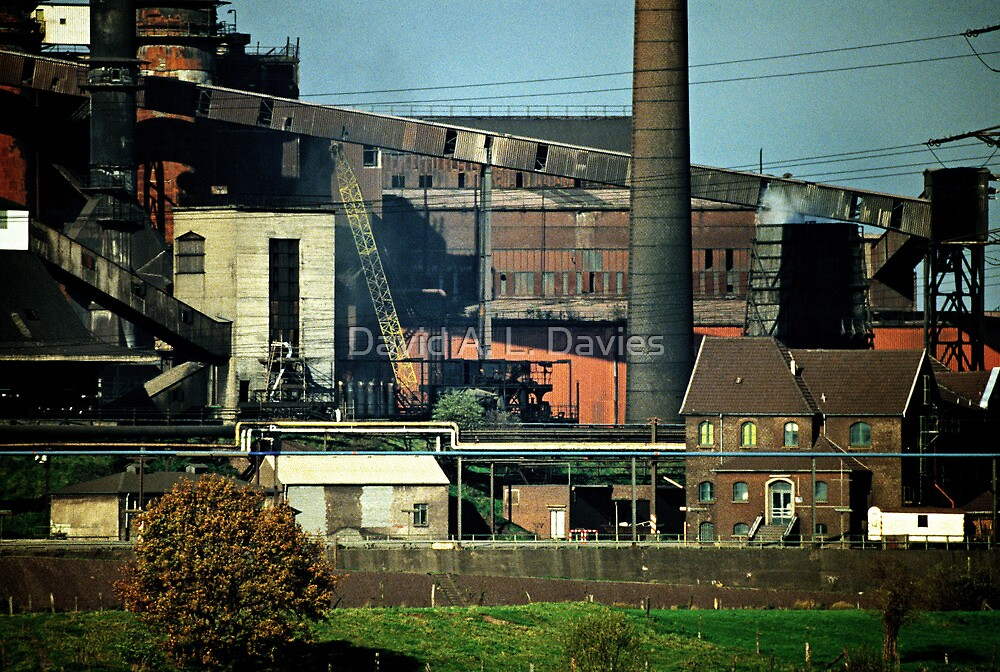 Rheinhausen steel works in early 1980s, Germany. by David A. L. Davies