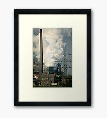 Rheinhausen steel works in early 1980s, Germany. Framed Print