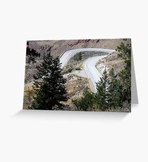 Road with a Twist Greeting Card