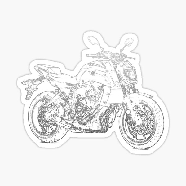 Yamaha MT07 pencil silhouette motorcycle naked bike roadster Sticker