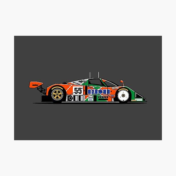 787B Group C Le Mans Retro Race Car Photographic Print