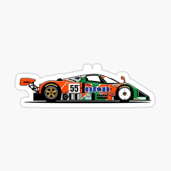 787B Voiture de course rétro du Groupe C Le Mans Sticker