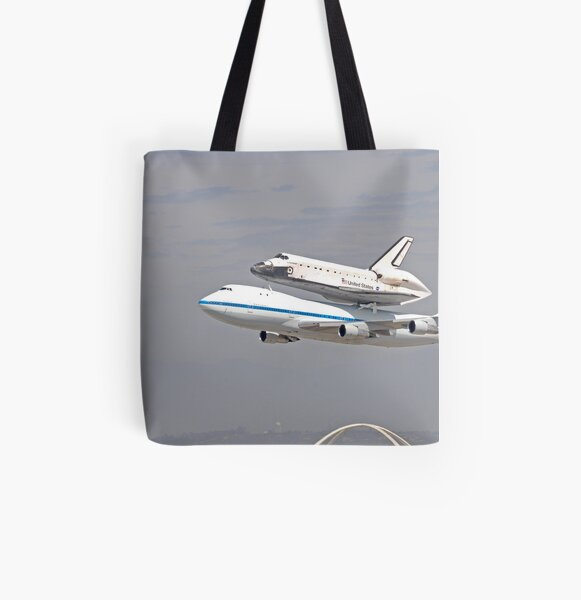NASA Space Shuttle at LAX All Over Print Tote Bag