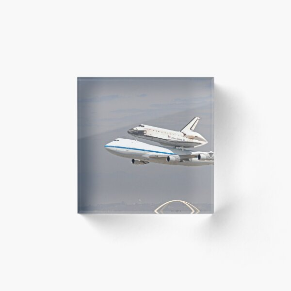 NASA Space Shuttle at LAX Acrylic Block