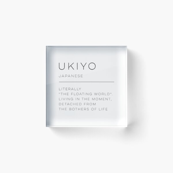 Ukiyo Definition Acrylic Block