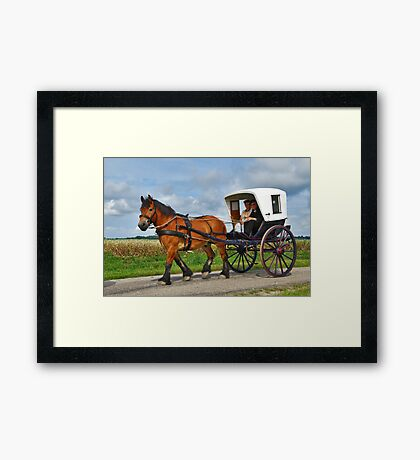 Together in a carriage Framed Print