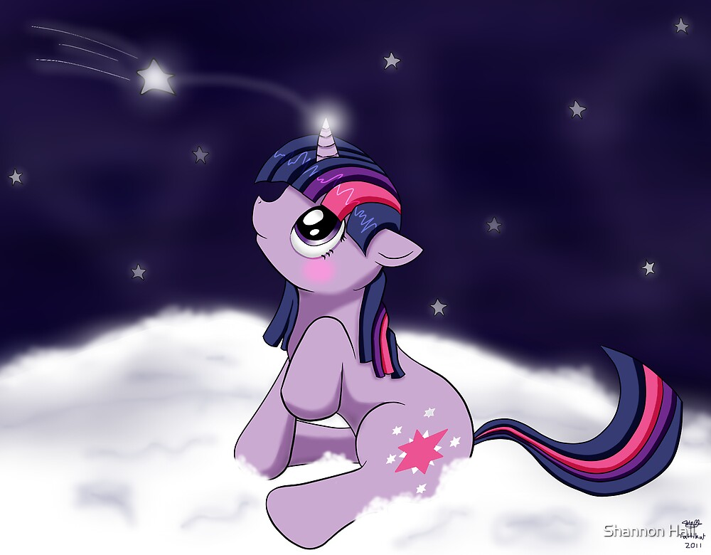 Snowy Constellations - Twilight Sparkle by Shannon Hall