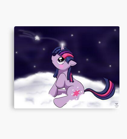 Snowy Constellations - Twilight Sparkle Canvas Print