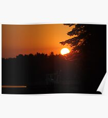 Spectacular Sunrise at the Lake Poster