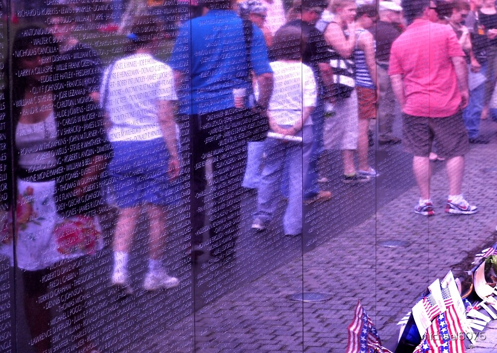 Passing the Wall of Remembrance - Vietnam Veteran's Memorial by michael6076