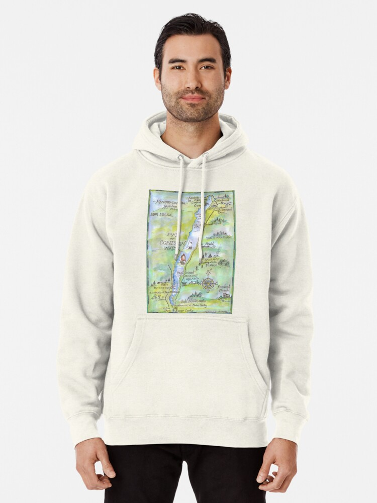 Alternate view of Swallows and Amazons map of Coniston Water -  Pullover Hoodie